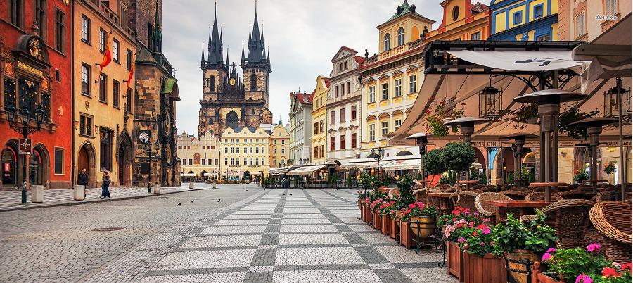 Il centro storico di Praga